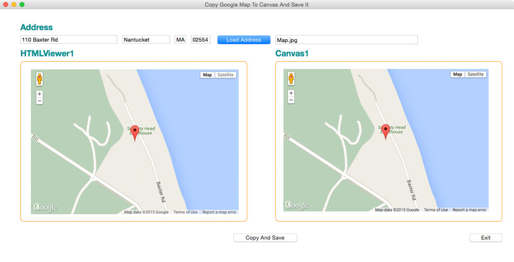 Copying google map from html viewer to canvas xojo forum here is a screen shot from a mac ccuart Images